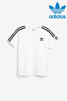 Biele tričko adidas Originals Lock Up