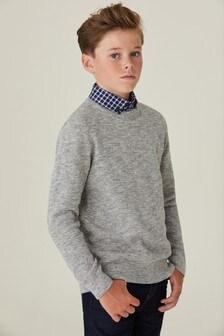 Джемпер с рубашкой-обманкой (3-16 лет)