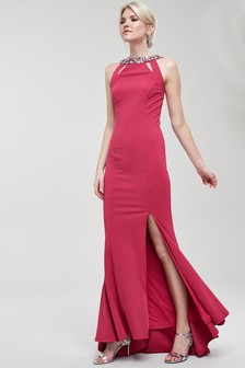 Платье с отделкой на спинке