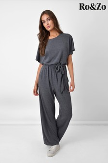 Ro&zo Grey Relaxed Jersey Jumpsuit (578744)   $82
