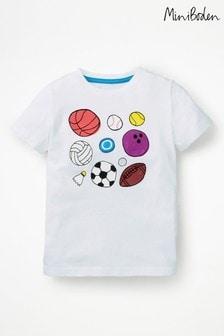 Boden White Sports T-Shirt