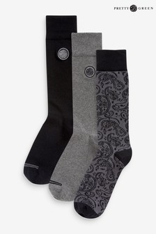 Pretty Green Socks Three Pack