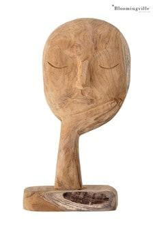 Bloomingville Brown Recycled Wood Deco Vase