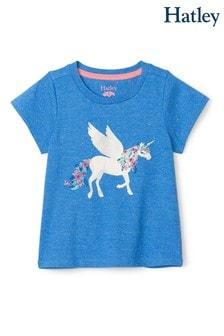 Синяя футболка с единорогом Hatley