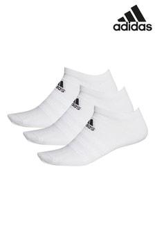 Lot de 3 paires de chaussettes basses de sport adidas blanc pour adulte