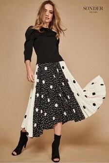 Sonder Studio Black Spot Cutabout Skirt