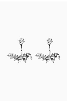Jewelled Front To Back Detail Earrings