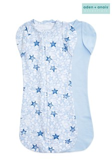 Aden + Anais Blue Essentials Twinkling Stars Easy Swaddles Two Pack