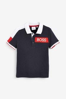BOSS by Hugo Boss Navy Bold Logo Polo