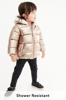 Metallic Character Ear Shower Resistant Padded Jacket (3mths-7yrs)