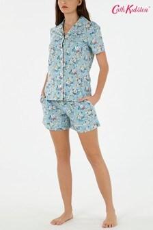 Set pijama scurtă cu trandafiri Cath Kidston® Clifton albastru