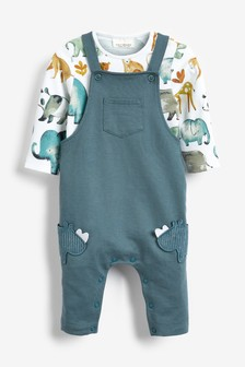 Rhino Dungarees And Bodysuit Set (0mths-2yrs)