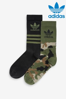adidas Originals 2對裝迷彩中筒襪
