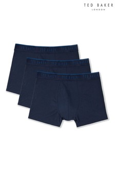 Ted Baker Navy Trunks Three Pack