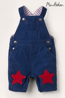 Boden Blue Jersey-Lined Cord Dungarees