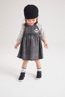 Panda Denim Raglan Dress (3mths-7yrs)