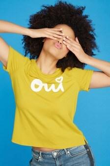 Khost Yellow Oui Logo T-Shirt