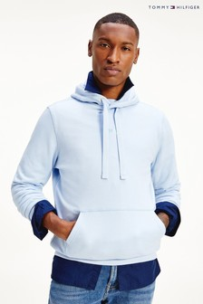 Tommy Hilfiger Blue Recycled Cotton Hoodie