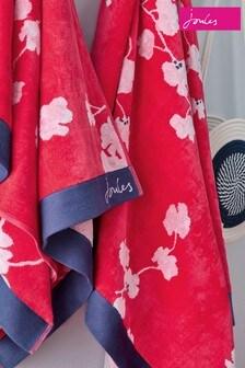 Joules Penzance Strandhandtuch mit floralem Muster