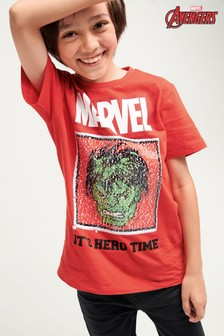 Marvel® Avengers Sequin Change T-Shirt (3-16yrs)