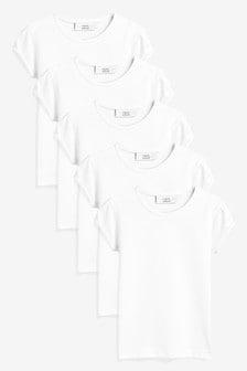 Набор из 5 футболок с пышными рукавами (3-16 лет)