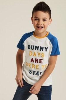 Tričko FatFace s nápisom Sunny Days