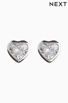 Delicate Heart Stud Earrings