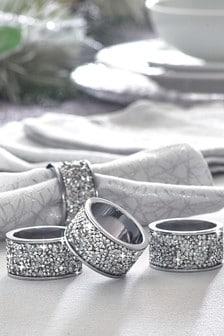 Set of 4 Harper Gem Napkin Rings