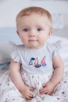 船隻圖案洋裝 (0個月至2歲)