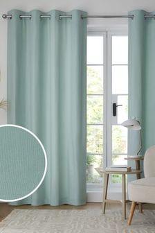 純棉金屬環遮光/保暖窗簾
