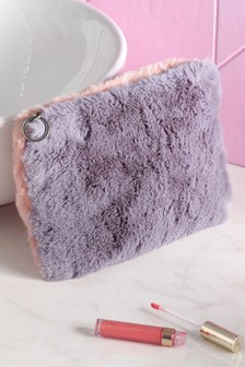 Faux Fur Cosmetics Bag