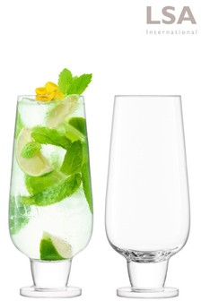 Set of 2 LSA International Rum Mixer Glasses