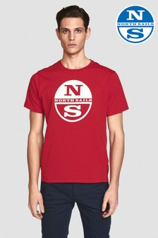 North Sails Red Graphic Short Sleeve T-Shirt