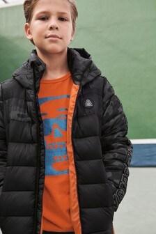 Ocieplana kurtka z kolorowymi wstawkami (3-16 lat)