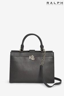 Ralph Lauren Black Laine Satchel Bag