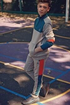 Топ и спортивные брюки с контрастными вставками (3-16 лет)