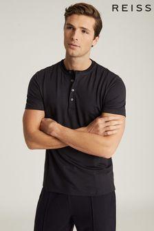 Reiss Harry Jersey Henley T-Shirt