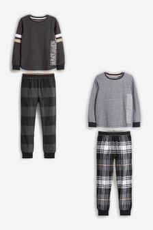 格仔睡衣2套裝 (3-16歲)