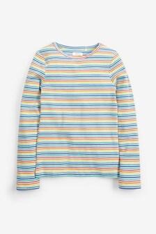 Rebrované tričko s dlhými rukávmi (3 – 16 rok.)