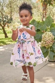Нарядное платье с цветами (3 мес.-7 лет)