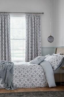 Fable Green Cherine Duvet Cover and Pillowcase Set