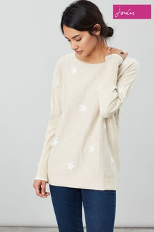 Joules Natural Kellie Round Neck Swing Jumper
