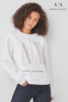 Armani Exchange Stud Icon Logo Sweat Top