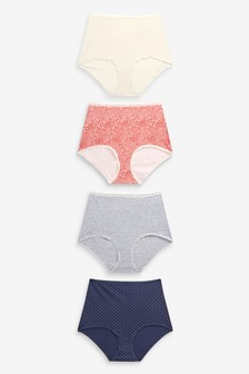 Cotton Rich Knickers Four Pack
