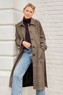 Emma Willis Button Up Belted Coat