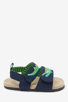 Sandale pentru bebeluși cu model crocodil și talpă din plută (0-24 luni)