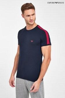 חולצת טי צמודה שלEmporioArmani עם פס סרט