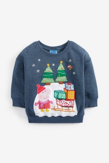 Peppa Pig™ Christmas Crew Sweat Top (3mths-7yrs)