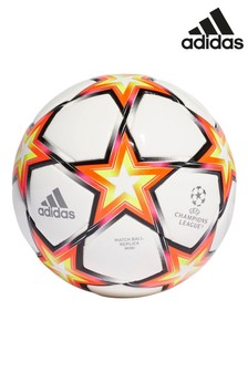 adidas White Champions League Mini Football