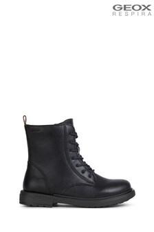 Geox Junior Girl's Eclair Black Boots